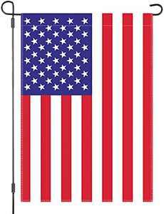 American Garden Flag - USA Flag Outdoor Yard Decor - 12 x 18 Inches Double Side Polyester Garden Flag
