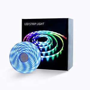 Wstan LED Strip Lights 16.4FT 150leds IP65 Waterproof RGB Colorful, Suitable for Indoor or Outdoor Deco TV Backlight, Living Room, Kitchen, Cabinet, Garden, Yard, Roof