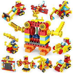 Building Blocks Sets for Kids, 148 PCS Toy Building Kits STEM Learning Educational Construction Engineering Preschool Bricks with Storage Box for Boys Girls Toddlers 3 4 5 6 7 8 Year Old Birthday Gift