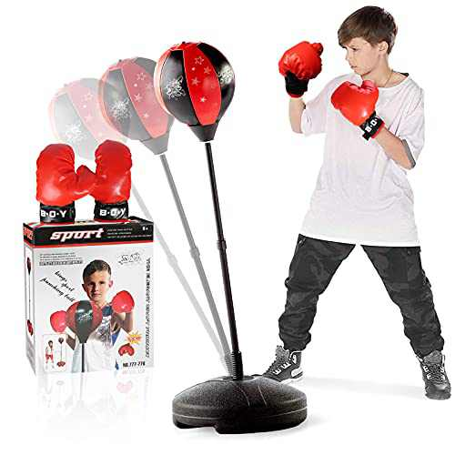 NextX Punching Bag for Kids with Boxing Glove, Sports Boxing Sets with Adjustable Height Stand