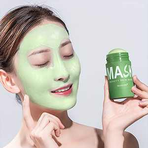 IBCCCNDC Face Mask Green Tea Clay Oil Control Deep Cleaning Clay Blackhead Remover Purifying Shrinks Pores Nourishing Acne Treatment Mud Film (1PCS)