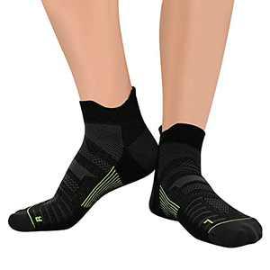 Compression Coolmax Ankle Socks Wicking Anti-Odor Seamless Socks Athletic Running Socks Plantar Fasciitis For Men Women