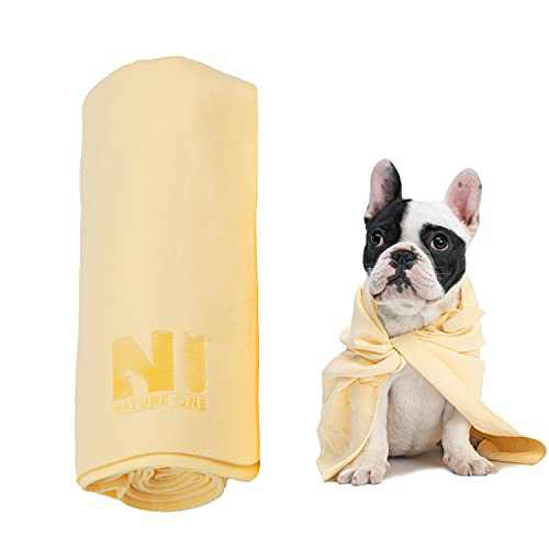 Nature ONE Quick Drying Towel Pet Bath Towel Absorbent and Soft Bath Towel Machine Washable Suitable for Dogs and Cats and Any Size Pets