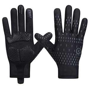SAVIOR HEAT Workout Cycling Gloves Full Finger Men Women Gym Mountain Bike Gloves Touch Screen Comfortable Cooling Lightweight Sun UV Protection Non-Slip Grips Padding Palm for Outdoor Sports