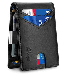 Lovlife Mens Slim Wallet with Money Clip Larger Capacity Up To 12 Cards RFID Blocking Wallets for Men Bifold Credit Card Holder