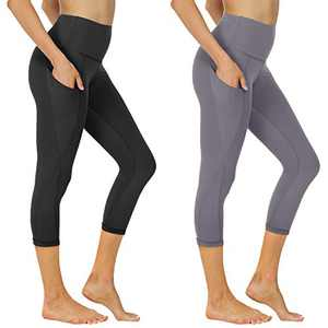 2 Pack Yoga Pants for Women - High Waisted Leggings with Pockets Tummy Control Stretch for Workout Running