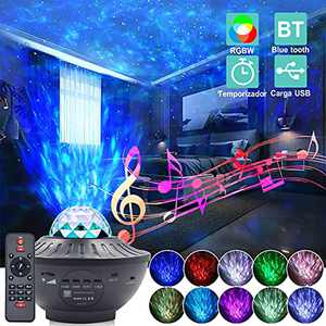 SUNET Star Projector , Ocean Wave Galaxy Projector, Star Projector Night Light with Built-in Music Speaker Voice Control Timer for Kids Adults Star Light Projector for Bedroom Home Theatre Party