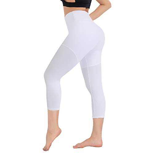 Printed Capri Leggings for Women - High Waisted Tummy Control Capris Pants Yoga Workout Athletic Cycling Tights