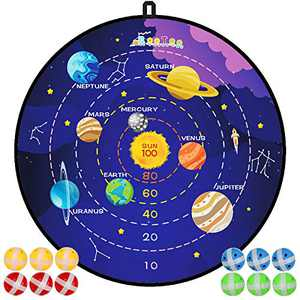 """29"""" Large Dart Board, Board Games for Kids with 12 Sticky Balls, Indoor/Sport Outdoor Fun Party Play Game Toys, Gifts for 3 4 5 6 7 8 9 10 11 12 Year Old Boys Kids Girls Toddlers Teens"""