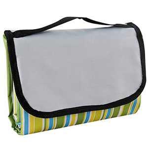"ZOBAYOP Picnic Blanket Portable Mat Waterproof Tarp for Outdoor Beach Camping 79""×79"" Green L"