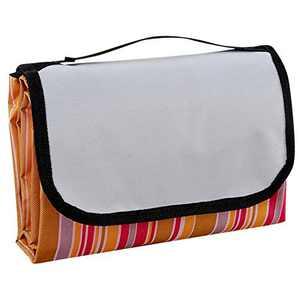 "ZOBAYOP Picnic Blanket Portable Mat Waterproof Tarp for Outdoor Beach Camping 79""×59"" Orange M"