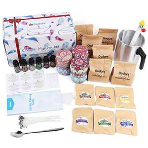 Soy Candle Making Kit for Adults Beginners, Candle Making Supplies & DIY Candle Making Kit, Candle Maker Kit with 2 LB Soy Wax, Fragrance Oils, Color Dyes, Wicks, Melting Pot, Candle Tins & More