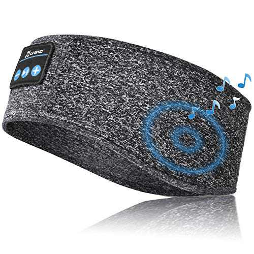 Sleep Headphones Bluetooth Headband, Bluetooth 5.0 Sleeping Headphones, Wireless Music Sport Headphones Headbands with Build-in Speaker for Workout Running Yoga Gift