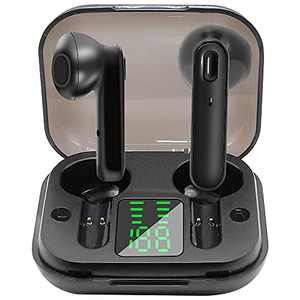 Vealvion Wireless Bluetooth 5.0 Earbuds Premium Sound Quality Clear Calls Punchy Bass Headphones 25H IPX5 Waterproof Sweatproof Earphones for Sports Power Display Charging Case