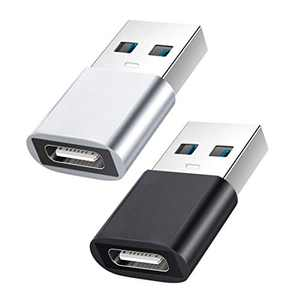 USB C to USB Adapter YOKELLMUX Mini Hi-Speed USB Female (Type-C) to USB 3.1 Male (Type-A) Fast Charging & Data Sync, OTG Adapter Connector Converter PC Charger Support - 2 Pack