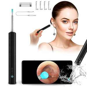 Ear Wax Removal Tool Bebird Ear Cleaner Bebird C3 Otoscope Ear Wax Removal Bebird Ear Wax Removal Endoscope Ear Camera 1080P FHD Bebird Wireless Otoscope Tool Ear Cleaning Kit for iOS Android (Black)