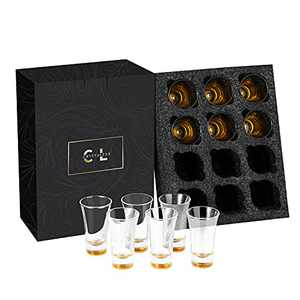 CRYSTALEAR Shot Glasses , 2oz Clear Heavy Base Shot Glasses , Shot Glasses Set of 12