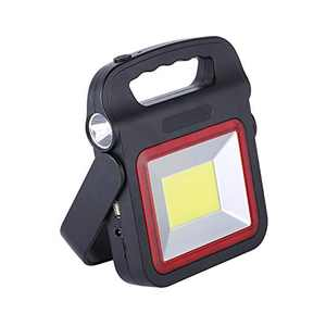Rechargeable Portable Light Solar Emergency Light, 50W Cob High-power Work Light Camping Lamp, 5 Lighting Modes Work Search Light for Outdoor Camping, Hiking, Backpacking, Fishing, Job Site Lighting