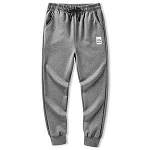LAIWANG Men's Joggers Athletic Pants Running Workout Tapered Sweatpants with Zipper Pockets (2#Grey, M)