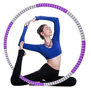 FULLOVE Weighted Hoop for Exercise,Fitness Hoops (Purple)