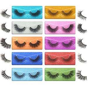 Gmagictobo Lashes Pack False Eyelashes 10 Styles Natural Cat Eye Soft Wispy Individual Packaged Lightweight Volume Fake Lashes Multipack