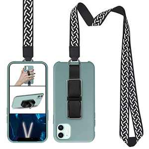 Cell Phone Lanyard, SS Phone Loop Finger Holder with Stand Phone Strap Gripper for Back of Phone Compatible with iPhone Samsung Any Smartphones