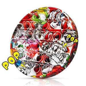 Pop to It Fidget Toy - Pop Round, Push Bubble Fidget Sensory Toy (Round)