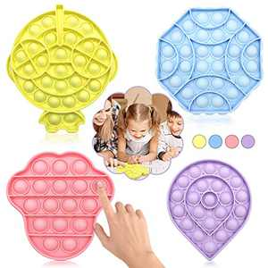 LICAXVL Pop Fidget Toy, Fidget Toys for Kid, Bubble Popper Fidget Toy, Fidget Popper Stress Reliever Toys (Multi Color and Shape 4)