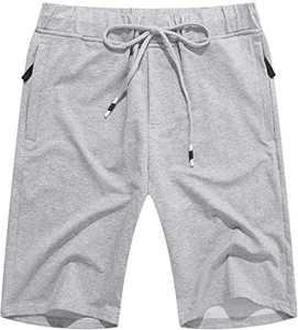 Men's Linen Casual Classic Fit Short Drawstring Summer Beach Shorts Grey XL