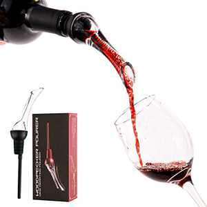 Wine Aerator, Wine Pourer Aerate Wine Instantly Without Waiting Fits Most Bottles Black Upgraded Design with A Long Pouring Spout Preventing Wine from Leaking Perfect for Wine Lovers