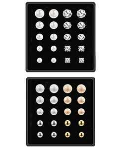 20 Pairs 2sets Stud Earrings for Women, Piercing Crystal Pearl Earring Sets for Girls, Ideal Jewelry Gift or Daily Wear