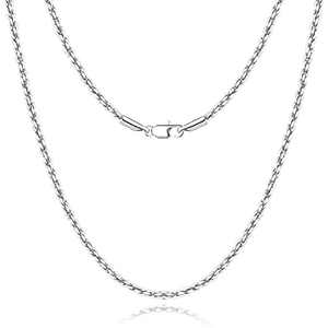 Andsion Silver Chain Gold Chain for Men Women, Diamond Cut Rope Chain Silver Necklace Chain for Women, Super Sturdy & Lasting Shiny 18K Gold Plated Chain Necklace 1.5/2/2.5mm Size 16/18/20/22/24 Inches