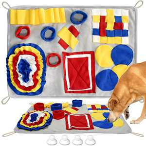 FunniPets Snuffle Mat for Dogs, Dog Feeding Mat, Durable Dog Snuffle Mat for Boredom, Slow Eating, Stress Relief, Interactive Puzzle Toys Encourages Natural Foraging Skills for Cats Dogs