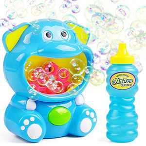 Bubble Machine for Kids Automatic Bubble Maker with Solutions Blower Indoor Outdoor Toys for 3 4 5 6 Years Old Boys Girls Toddlers Kids
