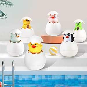 ORILEDA Baby Bath Toys, Baby Bathtub Toys, Kid Bath Toys, Duck Eggs Spray Toys, Fun Hatching Ducky Eggs , Fun Swimming Pool Bathrooms, Beach Boys and Girls, Water Spray Floating Toys