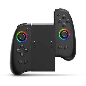 Joypad Controller, binbok Joypad Support 8 Colour Adjustable LED,Wake-up Function, Wireless Joy Con Controller with Dual Vibration and Gyroscope axis, L/R Switch Controller Joypad