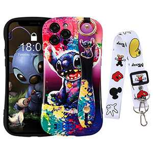 HaRuion iPhone 12 Pro Max Case, Cute Cartoon Personalized Full Protective Phone Cover with Wrist Strap and Lanyard Compatible with iPhone 12 Pro Max 6.7 Inch 2020 (Colorful)