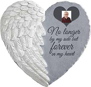 Nothers Memorial Stone with Picture(Optional)-Sympathy Garden Marker- Memorial Stone for Loss of Loved Ones