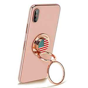 OOBUTTON USA - Phone Ring Stand Holder, Cell Phone Ring Holder Finger Grip 360° Degree Rotation Compatible with iPhone iPad Smartphones Tablet,Rose Gold