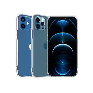 ABenkle Compatible with iPhone 12 and 12 Pro Case, Slim Fit Hybrid Case Shockproof Protective Flexible Bumper Cover for iPhone 12/12 Pro 6.1-Inch 2020, Crystal Clear