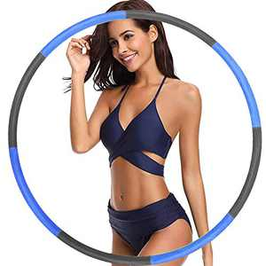 Raoccuy Exercise Hoop for Adults Jump Rope - Weighted Exercise Hoop for Exercise,8 Section Detachable Design-Professional Soft Fitness Exercise Hoop