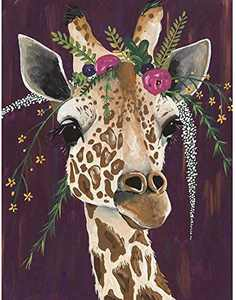 5D Diamond Painting Kits for Adults, Giraffe Full Drill Diamond Art Painting, Cross Stitch Crystal Rhinestone Embroidery Gem Art Craft for Home Wall Decor 12x16 Inch