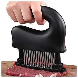 Meat Tenderizer Tool - 48-Blades Stainless Steel,Dishwasher Safe,black