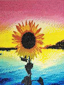 5D Diamond Painting Kits for Adults Colorful Sunflower Full Drill Diamond Art 5d Cross Stitch Arts Jewel Art Diamond Picture DIY Diamond Painting for Home Wall Decor Gift 12x16 Inch