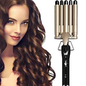 Hair Waver COOLGUY Hair Crimpers for Long/Short Hair, Latest Hair Curlers 30s Fast Heat Up, Professional Mermaid Waver Curler with Adjustable Temperature, Long-Lasting Hairstyle