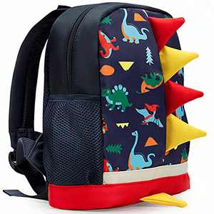 LESNIC Kids Dinosaur Backpack with Leash, Buckles in the Front , CPC Certified Medium Rucksack for 1-6 Years Old Boys & Girl, Dinosaur Rucksack Toddler Kids Bag 25 10 30.3cm/10 4 12in