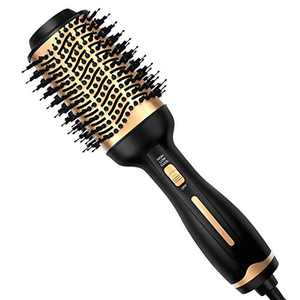 Hair Dryer Brush, Professional Hot Air Brush Hair Dryer and Styler Volumizer with Negative Ion Anti-Frizz Blowout Hair Dryer Brush for Drying, Straightening, Curling, Salon