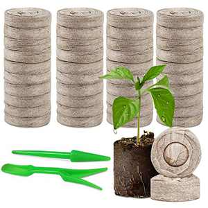 60 Pcs Peat Pellets Plant Pallet Seedling Soil Blocks - 30mm Indoor Potting Soil Starter Soil Plugs Garden Tools,Organic Compost Fiber Starting Mix,for Flowers Home Plant and Vegetables