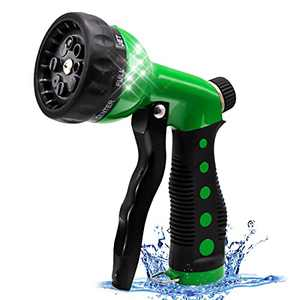 GUKOK Garden Hose Nozzle Sprayer - High Pressure Hose nozzle with 8 Adjustable Spray Patterns, Hose Sprayer Nozzle Heavy Duty for Watering Plants & Lawns, Washing Cars & Pets