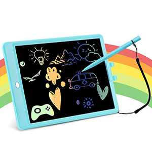 TOPJUM Doodle Board for Toddlers, 10inch Color LCD Writing Tablet for Kids, Erasable Drawing & Scribbler Pads, Reusable Learning Toys for 3–7 Years Old, Amazing Gift for Girls & Boys (10in, Blue)